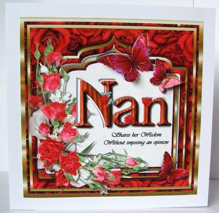 Card Gallery - Nan . . . Shares her Wisdom without imposing an opinion
