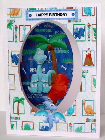 Card Gallery - Dinosaur Window card Topper