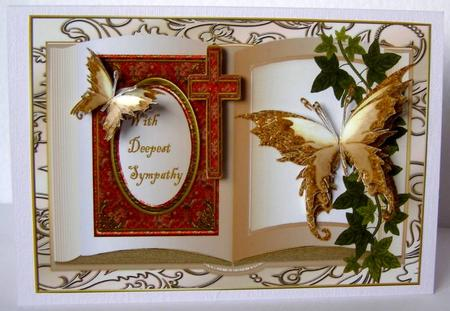 Card Gallery - Sympathy book Butterflies