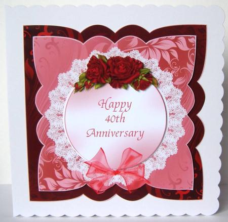 Finished Cards ? Anniversary ? Anniversary Ruby Wedding ? Page 4