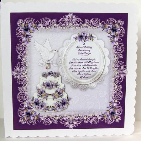 Wedding Anniversary Cake Images Download : Anniversary Silver Wedding - Anniversary - Handmade Cards
