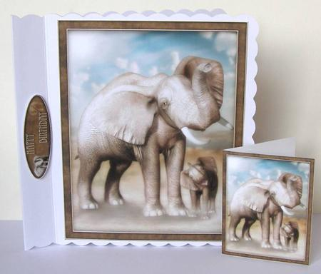 Card Gallery - Mother and Baby Elephant