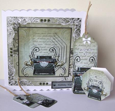Card Gallery - Vintage Typewriter