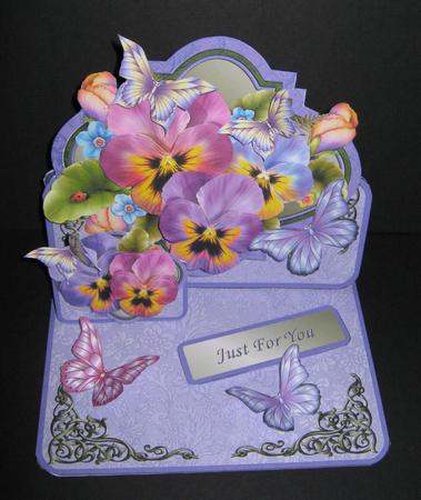 Pansies & Butterflies Double Easel Card Kit in Card Gallery
