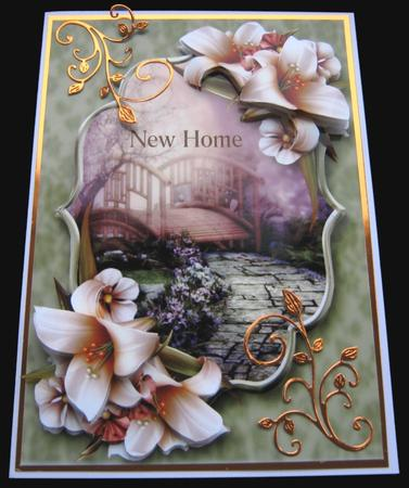 Beautiful Ivory Lilies Scene in Card Gallery
