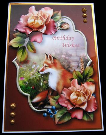 Gorgeous Roses & Fox in Card Gallery