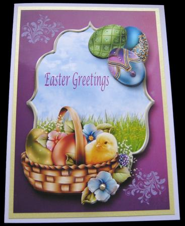 Easter Chick & Jewelled Eggs in Card Gallery