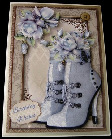 Steampunk Boots & Beautiful Blue Roses Mini Kit in Card Gallery