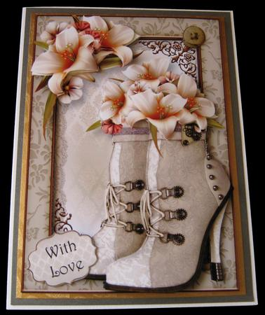Steampunk Boots & Ivory Lilies Mini Kit in Card Gallery