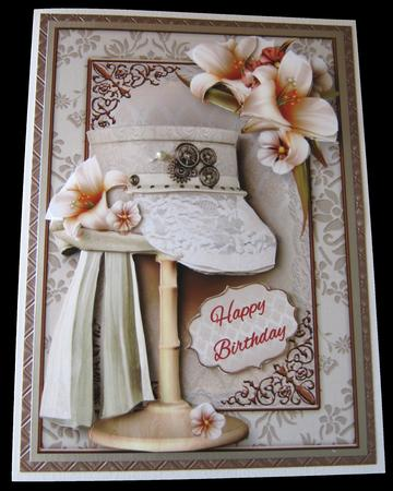 Steampunk Top Hat with Lace & Ivory Lilies in Card Gallery