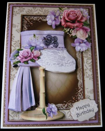 Steampunk Top Hat with Lace & Belle Roses Mini Kit in Card Gallery