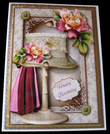 Steampunk Top Hat & Blush Roses Mini Kit in Card Gallery