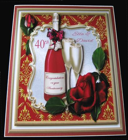 Champagne Congratulations Card Front in Card Gallery
