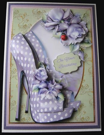 The Eccentric Shoes & Purple Roses in Card Gallery