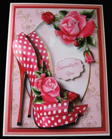 The Eccentric Shoes & Deep Pink Roses in Card Gallery