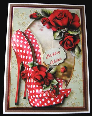 The Eccentric Shoes & Red Roses in Card Gallery