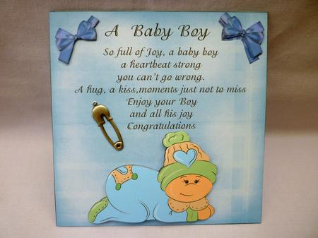 Baby Boy Poem 3D Card - CUP178380_49 | Craftsuprint