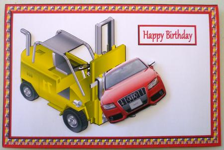 Card Gallery - Audi on a Forklift SBS