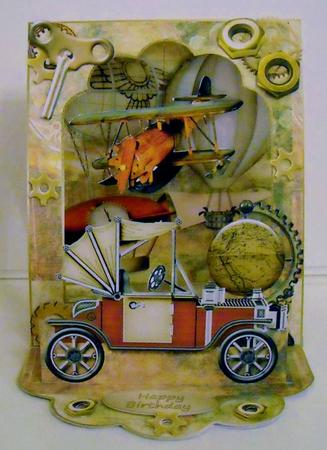 Card Gallery - 3D Open Front Easel Kit - Dream Machine