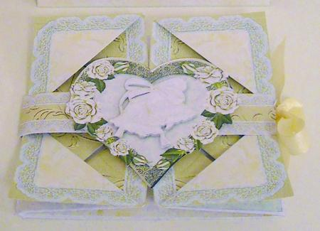 Card Gallery - Champagne Wedding Handkerchief Fold Card Kit