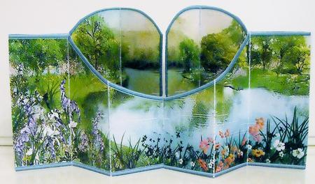 Card Gallery - Lake Scene Double Diamond 3D Card Kit