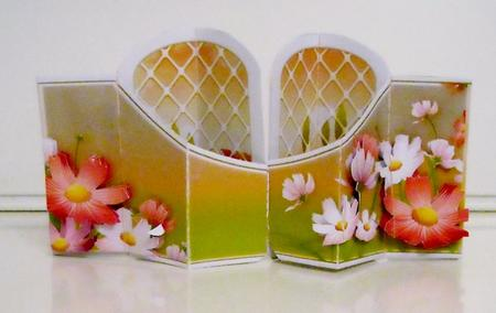 Card Gallery - Window & Flowers Double Diamond 3D Card Kit