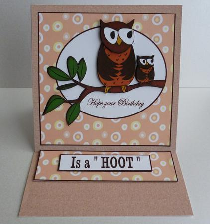 "Card Gallery - birthday ""hoot"""