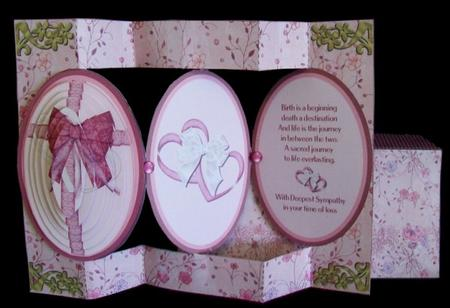 Card Gallery - Sympathy Cameo Tri-Shutter Card & Envelope