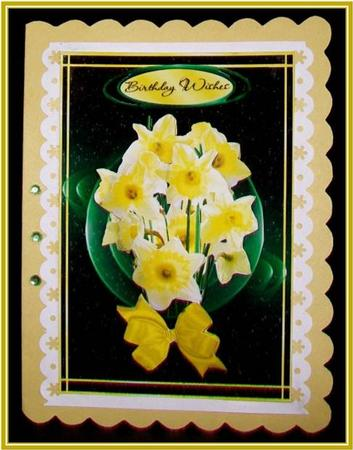 Card Gallery - Daffodils in Motion Birthday or Get Well