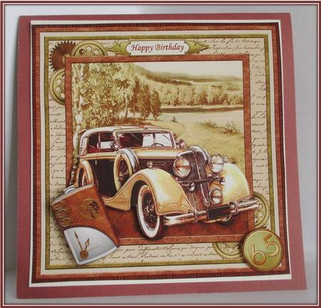 Vintage Gold Car 8x8 Mini Kit Amp Decoupage Cup517635 68