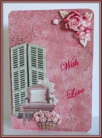 Card Gallery - Grunge Pink Background Kit