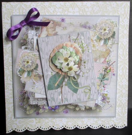 Card Gallery - selection of vintage flowers card with decoupage