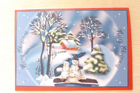 Card Gallery - MR AND MRS SNOW AND BABY MAKES THREE