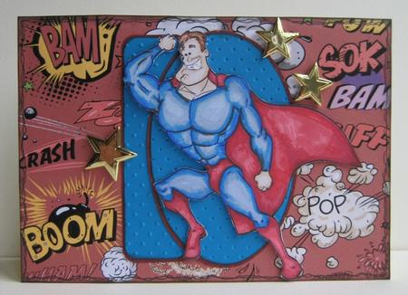Card Gallery - Superhero Digi Stamp.