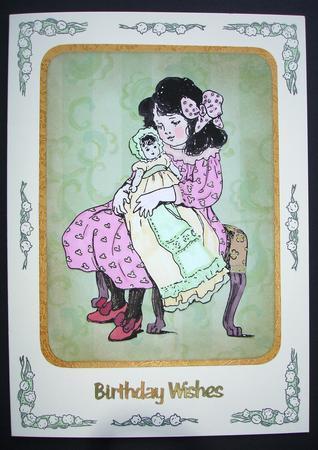 Card Gallery - Little girls digital stamps