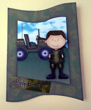 Card Gallery - Army Man Wave Card Kit