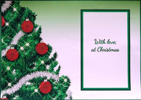 Card Gallery - Christmas Tree A5 Insert - With love, at Christmas