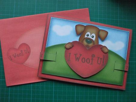 Card Gallery - 3D Rusty the Dogs Heart Animated Moveable Decoupage Card Kit
