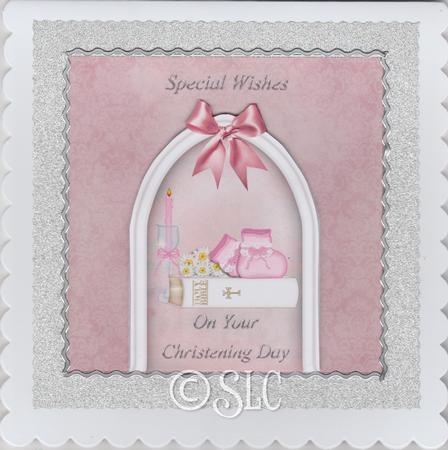Card Gallery - Bootees & Bible Christening Card