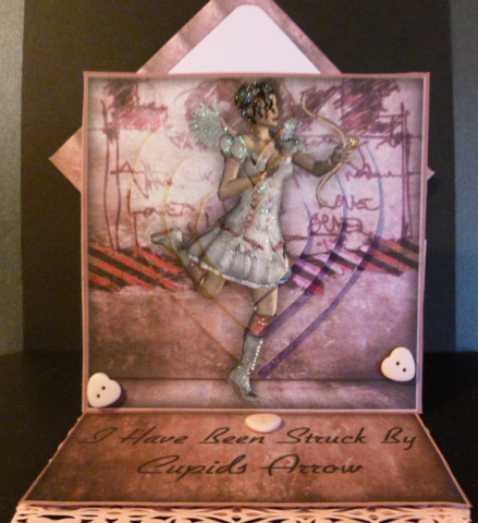 Card Gallery - Pretty In Pink Cupid Easel Card Kit