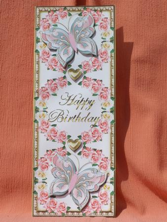 Card Gallery - DL Birthday Topper With Rose Wreath & Butterflies 5
