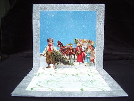 Card Gallery - a vintage christmas pop up card
