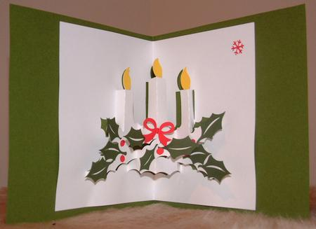 Card Gallery - 002 Candle Christmas Pop-up & Topper *MACHINE Formats*