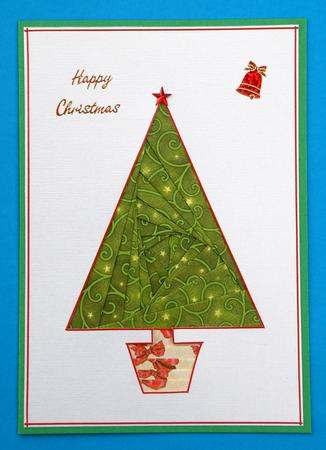 Card Gallery - Christmas Tree Iris Folding Pattern
