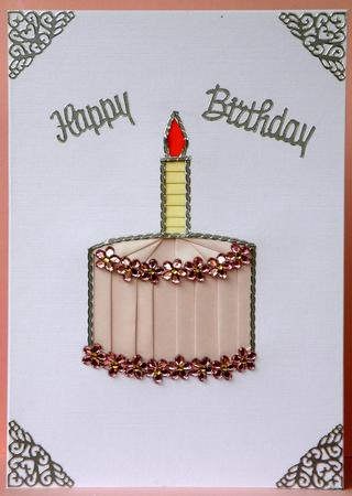 Card Gallery - Birthday Cake & Gift Iris Folding Patterns