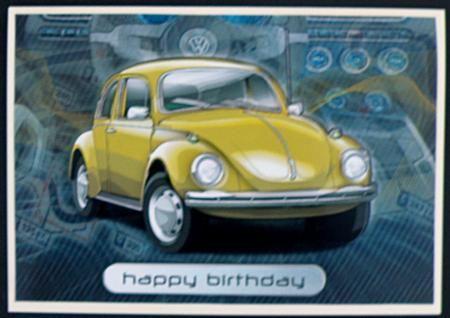 happy birthday brother volkswagen beetle classic yellow cup craftsuprint