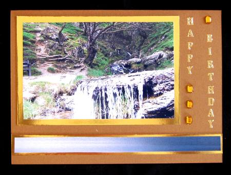Card Gallery - 3 elan valley waterfall card front/ toppers