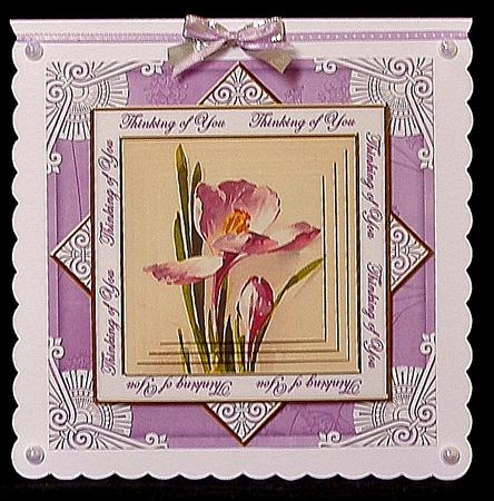 Purple Iris Thinking of You Diamond Megacoupage CF Kit