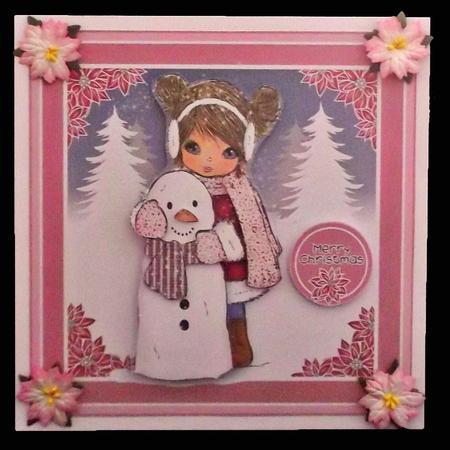 Angelica with Snowman Christmas Topper Mini Kit in Card Gallery