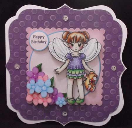 Cute Fairy With Teddy in Card Gallery